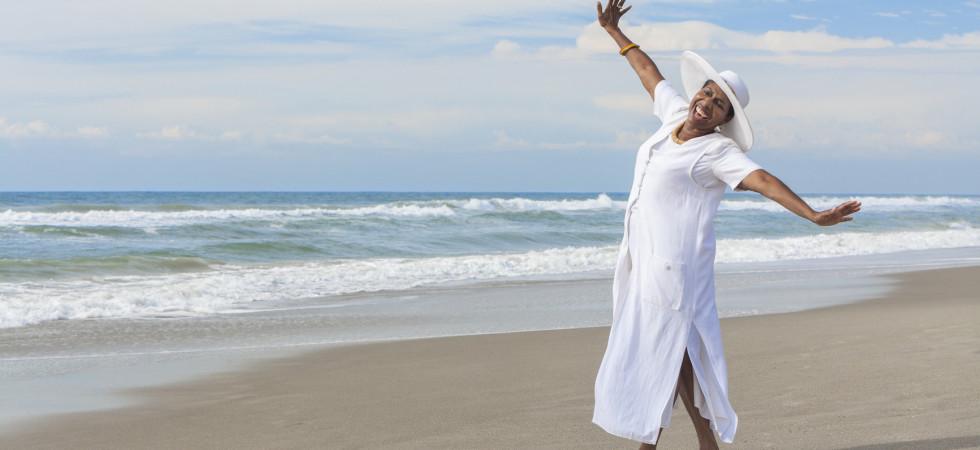 CTW woman on beach